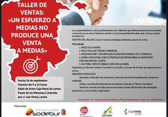 """Taller de ventas en Lerma: """"Un esfuerzo a medias no produce una venta a medias"""""""